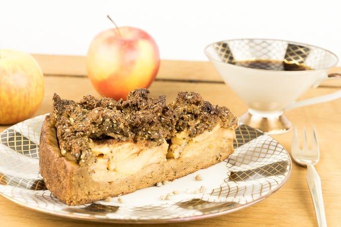 Apple Crumble Cake with Crunchy Whole Hemp Seeds
