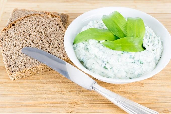 Wild Garlic Cream Cheese Spread