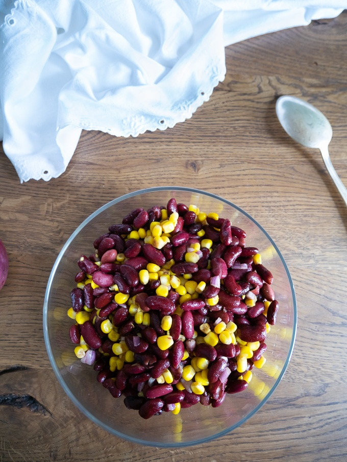 Kidney Bean and Corn Salad With Red Onion