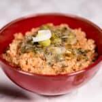 Quinoa and leek dish