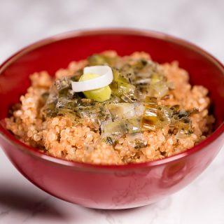 Quinoa and leek dish
