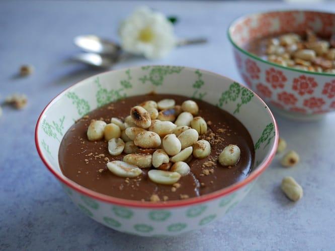 Opulent peanut chocolate pudding