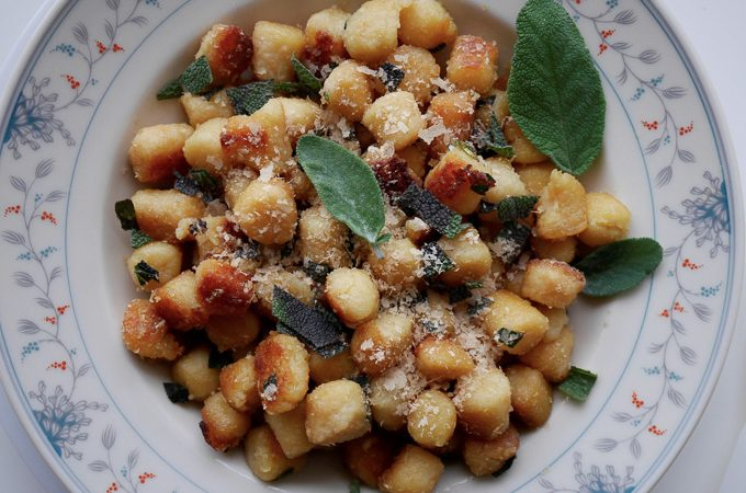 Lemony gnocchi with sage