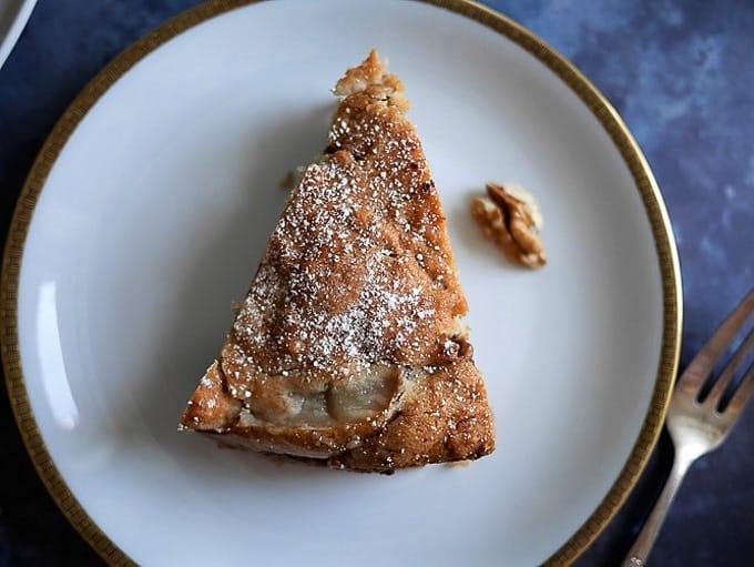Romanian pear and walnut cake