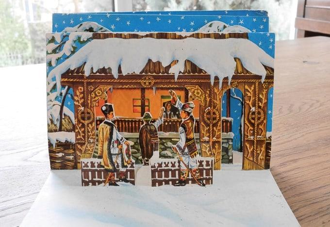 Romanian postcard wishing happy new year, inside